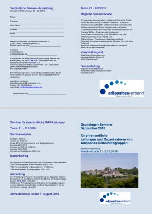 Flyer Grundlagenseminar für ehrenamtliche Leitungen und Organisatoren